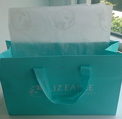 LIZ EARLE PREMIUM GIFT BAGS X 2 with TISSUE PAPER USED