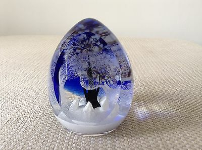 Rare Limited Edition Winters Realm Caithness Paperweight Colin Terris