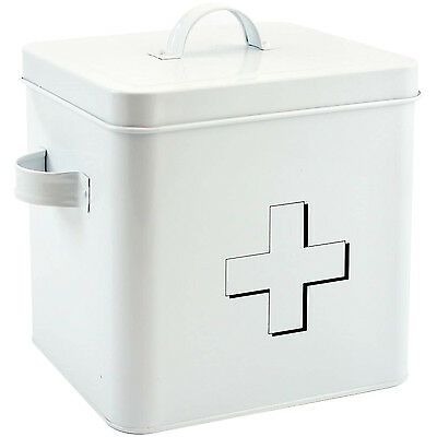 Home Sweet Home White Health Medicine Pill Pills First Aid Kit Box Case Storage