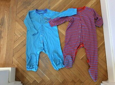 2 BABY GROWS  18-24 Months
