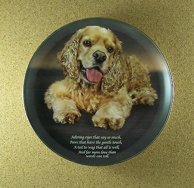 Cherished Cocker Spaniels ADORING EYES Plate Dog Puppy Danbury Mint Spaniel