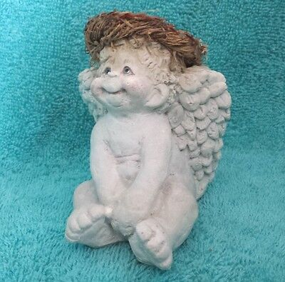 "Ceramic Angel Cherub Dreamsicles 4"" Decorative Collectible Figurine Wreath Bow"