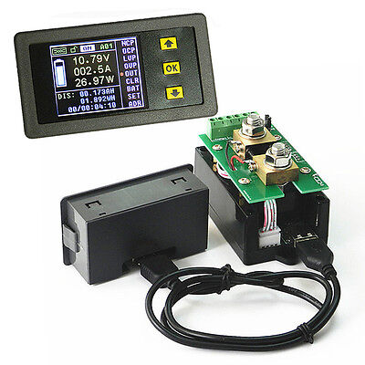 DC 120V 0.1A-100A LCD Wireless Digital Voltage Current Capacity Watt Power Meter
