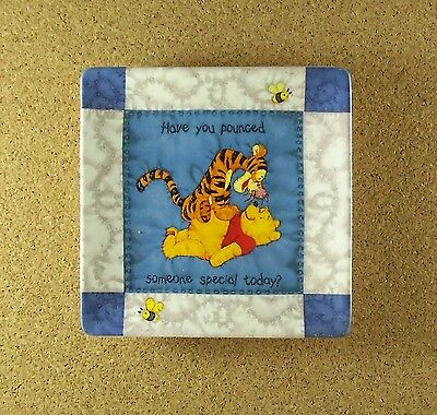 Hundred Acre Wisdom SOMEONE SPECIAL Winne the Pooh Square Quilt Plate #2 Tigger
