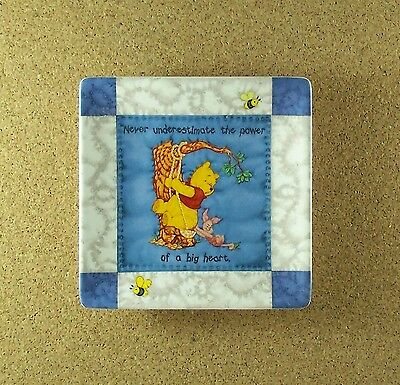Hundred Acre Wisdom A BIG HEART Winne the Pooh Square Quilt Plate #8 Charming!