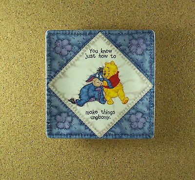 Hundred Acre Wisdom UNGLOOMY Winne the Pooh Square Quilt Plate #7 Charming!