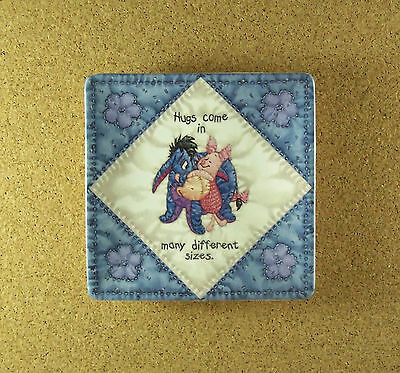 Hundred Acre Wisdom HUGS Winne the Pooh Square Quilt Plate #3 Charming!