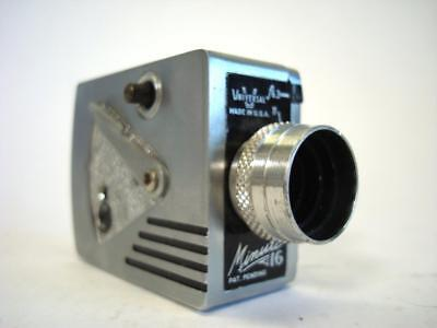 Vintage Universal f6.3 Minute 16 Miniature Spy Film Camera for parts or repairs