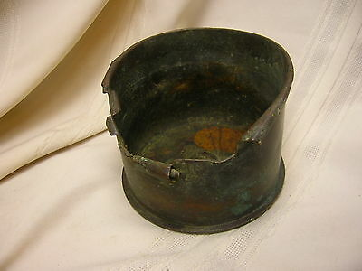 Vintage 1917 WWI Trench Art Large Ashtray Marked 144 FN HL 27 Brass/Bronze Piece