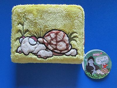 37376 Portafoglio Nici In Peluche Welcome To The Jungle Tartaruga 12X10 Cm
