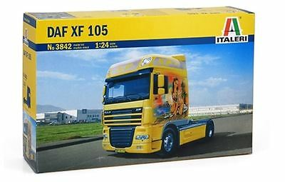 New Italeri Models 1:24 Daf Xf 105 Kit Plastic Scale Tractor Vehicles Miniature