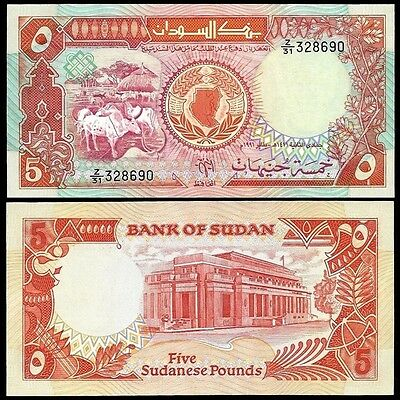 East Africa 5 POUNDS 1991 P 45 UNC