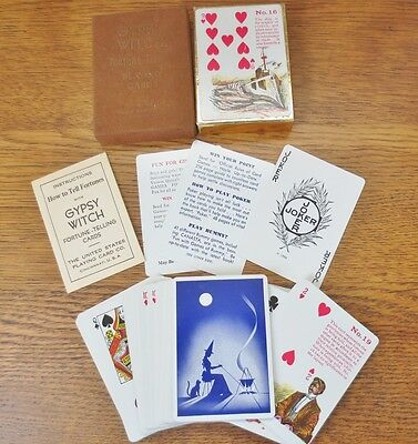Vintage GYPSY WITCH Fortune Telling Playing TAROT Cards In Box Complete!