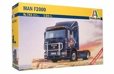 New Italeri Models 1:24 Man F2000 Kit Truck Vehicle Plastic Scale Game Miniature
