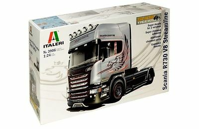 New Italeri Models 1:24 Scania V8 Streamline Silver Griffin Kit Truck Vehicles