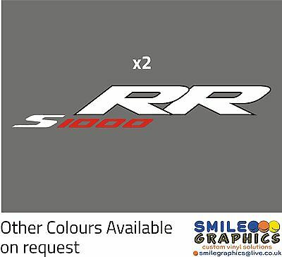 S 1000 RR Vinyl Decal (x2) Sticker Transfer for BMW Motorcycles Red/White/Black