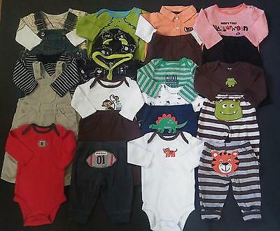 Boys 0-3 3 months Fall Winter Clothes Lot