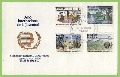 Dominican Republic 1985 International Youth Year set on First Day Cover