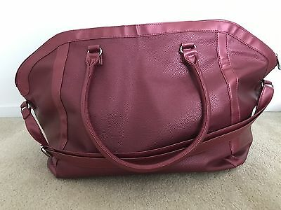 New Red Tote Weekender Travel Duffel Bag Overnight LARGE