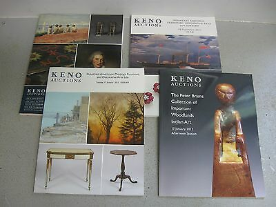 Lot of 4 Keno Auction Catalogs - Paintings, Furniture, Native American Wood Art
