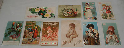Antique Victorian Advertising Trade Cards Group Lot Soap James Pyle's Pearline
