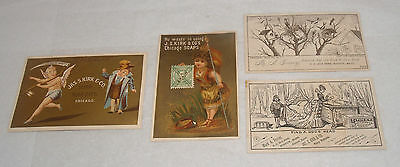 Antique Victorian Advertising Trade Cards Group Lot Soap J.s. Kirk & Co