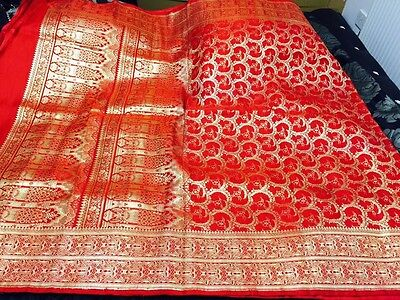 Indian Bollywood Banarasi Silk Kathan Bridal Saree/sari/dress/party/wedding