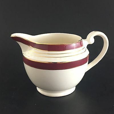 Swinnertons Cream Pitcher Majestic Vellum Staffordshire England Burgundy Gold