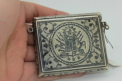 Antique Original Silver Ottoman Islamic For Quran  Container Necklase