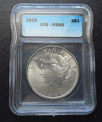 1923 Peace Silver Dollar - MS65 - gorgeous coin!