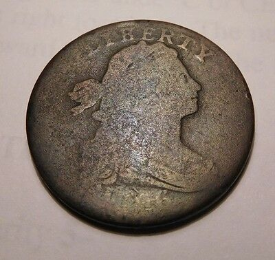1796 Draped Bust Cent S-103 R-4+ (Liherty)