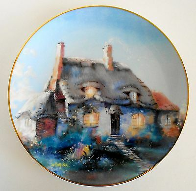 Lullabye Cottage by Marty Bell English Country Cottages Plate No.4107A 1991 8.5""
