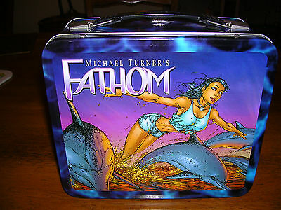 Michael Turner's Fathom metal lunch box collectable rare 2000 Top Cow