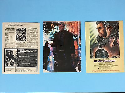 "Blade Runner 8X10.5"" Movie Ad, 8X10.5"" Harrison Clipping & Order Form"