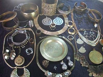 Lot Of Vintage/now Costume Jewelry Egyptian Inspired Gold & Silver Tones Nice
