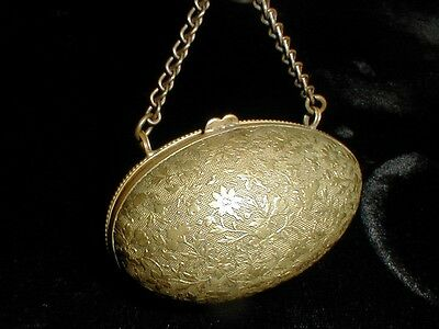 Antique Sewing Thimble & Needle Case - Egg Form