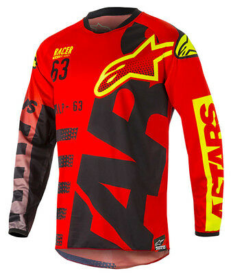 2018 Alpinestars Racer Braap Jersey Red/Yellow