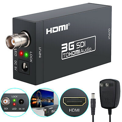 3G SDI To HDMI Video Audio 1080P HD Converter Adapter Coaxial Cables For DVD PC