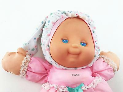 """1991 Fisher Price Puffalump Kids Nighttime Light Up Baby Doll Pink 12""""Works 1372"""