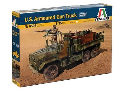 New Italeri Models 1:35 Us Armoured Gun Truck Kit Military Vehicles Plastics