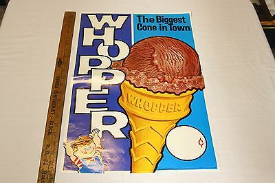 1966 Whopper Ice Cream Cone Poster