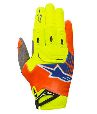 2018 Alpinestars Techstar Glove Yellow Flo/Orange Flo