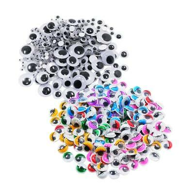 476x Colorful Self-adhesive Wiggle Googly Eyes Scrapbooking Craft Decoration