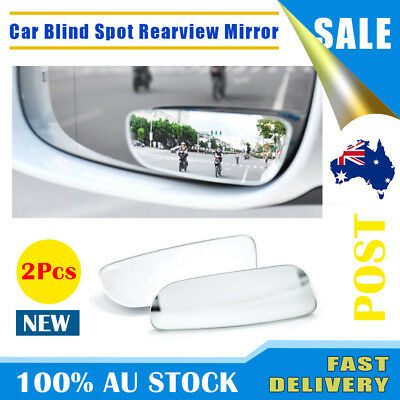 2X Universal Car Auto 360° Wide Angle Convex Rear Side View Blind Spot Mirror AU