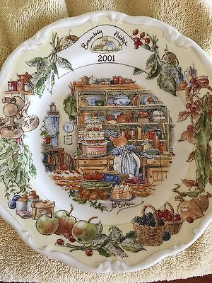 Stunning Royal Doulton Brambly Hedge 2001 & 2002 Year Plates  Immaculate