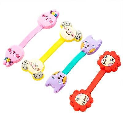 8PCS/lot Earphone Cord Winder Wrap organizer Earbud Cable Ties Holder Cute