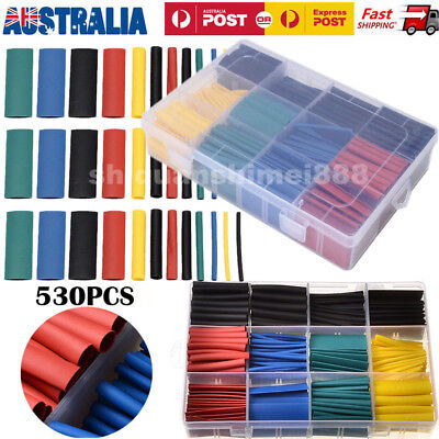 530Pcs Assorted Heat Shrink Tubing Tube  Wire Cable Insulation Sleeving Kit Box