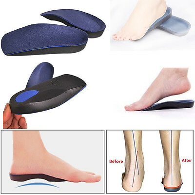 Unisex Orthotic Insoles Shoe Insert Pad Arch Support Cushion Sport Running XS-XL