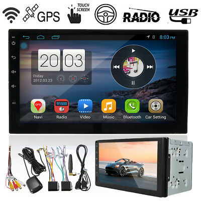 7'' Quad Core Android 5.1 WIFI GPS 2 DIN Car Head Unit Radio Stereo MP5 Player