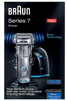Braun Series 7 799cc Men's Electric Foil Shaver Wet Dry - Clean Charge Station